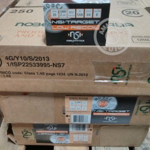 Great ammo for target shooting, upland bird hunting, these NobelSport rounds are for sale now at AmmoMan.com.