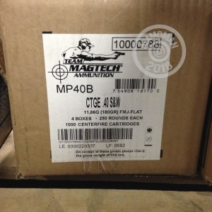 Photo of .40 Smith & Wesson FMJ ammo by Magtech for sale at AmmoMan.com.