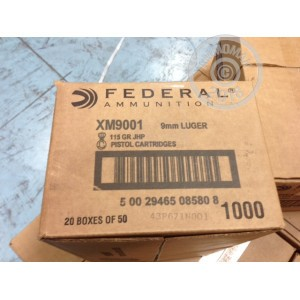 Image of 9mm Luger ammo by Federal that's ideal for home protection, training at the range.