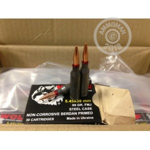 5 56x39mm ammo 1200 rounds of 69 grain full metal jacket wolf