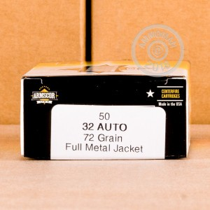 Image of .32 ACP ammo by Armscor that's ideal for training at the range.