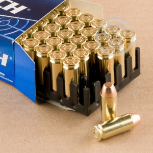 A photograph of 50 rounds of 180 grain 10mm ammo with a FMJ bullet for sale.