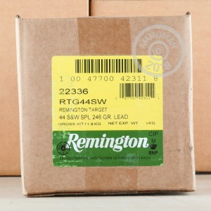 A photo of a box of Remington ammo in 44 Special.