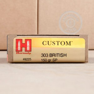 Photo of 303 British soft point ammo by Hornady for sale.