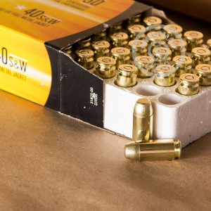 A photo of a box of Armscor ammo in .40 Smith & Wesson.