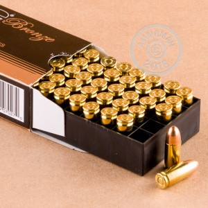 Image of PMC 9mm Luger pistol ammunition.
