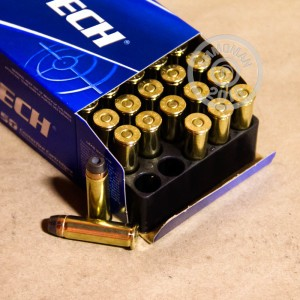 Image of Magtech 38 Special pistol ammunition.