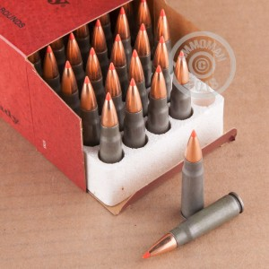 Image of Hornady 7.62 x 39 rifle ammunition.