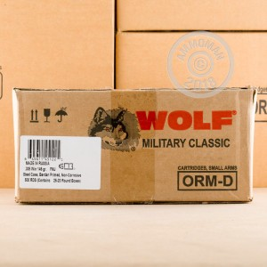 Image of 308 / 7.62x51 ammo by Wolf that's ideal for training at the range.