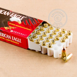 Image of Federal .380 Auto pistol ammunition.