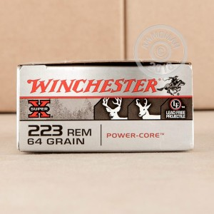 Image of 223 Remington ammo by Winchester that's ideal for whitetail hunting.