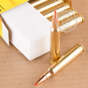 A photograph of 20 rounds of 165 grain 300 Winchester Magnum ammo with a GMX bullet for sale.