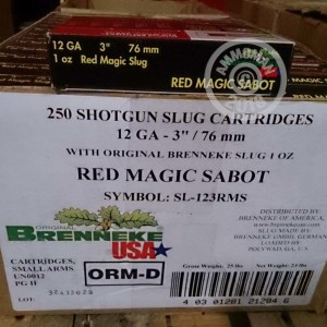 Great ammo for home protection, whitetail hunting, sabot slugs, these Brenneke Slugs rounds are for sale now at AmmoMan.com.