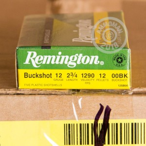 Photograph of Remington 12 Gauge 00 BUCK for sale at AmmoMan.com