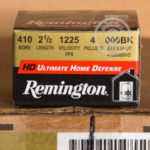Photo of Remington shotgun ammo in 410 BUCKSHOT.