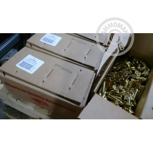 A photograph of 250 rounds of 158 grain 357 Magnum ammo with a FMJ bullet for sale.
