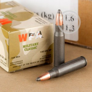 Image of Wolf 308 / 7.62x51 rifle ammunition.