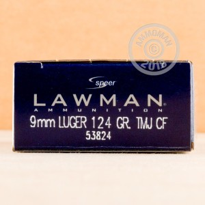 A photograph of 1000 rounds of 124 grain 9mm Luger ammo with a TMJ bullet for sale.