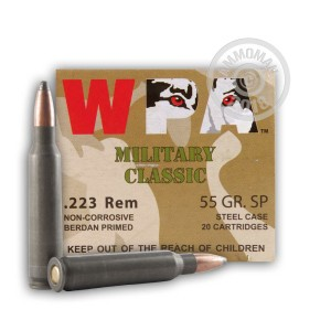 Photo of 223 Remington soft point ammo by Wolf for sale.