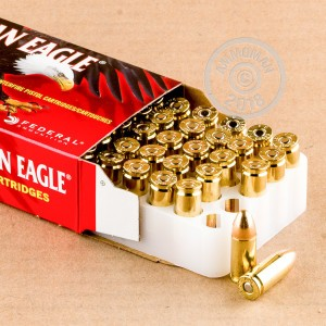Photo of 9mm Luger FMJ ammo by Federal for sale at AmmoMan.com.