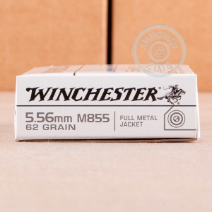 Photo of 5.56x45mm FMJ ammo by Winchester for sale.