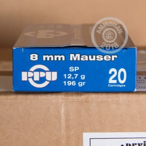 A photo of a box of Prvi Partizan ammo in 8mm Mauser.