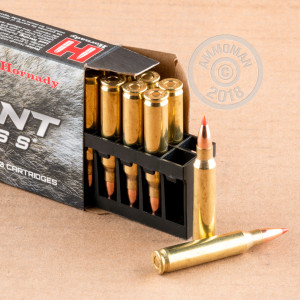 A photograph of 20 rounds of 40 grain 223 Remington ammo with a V-MAX bullet for sale.