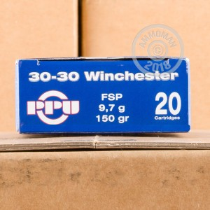 Image of Prvi Partizan 30-30 Winchester rifle ammunition.
