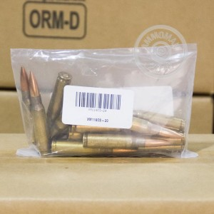 Image detailing the brass case on the Lake City ammunition.
