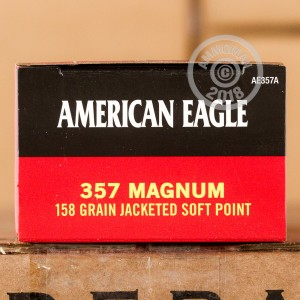 Image of Federal 357 Magnum pistol ammunition.