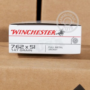 Image of 308 / 7.62x51 ammo by Winchester that's ideal for training at the range.