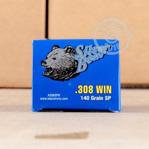 Image of 308 / 7.62x51 ammo by Silver Bear that's ideal for hunting wild pigs, whitetail hunting.