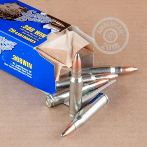 Image detailing the zinc plated steel case on the Silver Bear ammunition.
