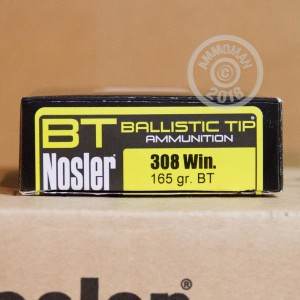 Photo of 308 / 7.62x51 Nosler Ballistic Tip ammo by Nosler Ammunition for sale.