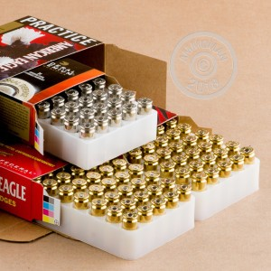 A photograph of 120 rounds of 180 grain .40 Smith & Wesson ammo with a FMJ bullet for sale.