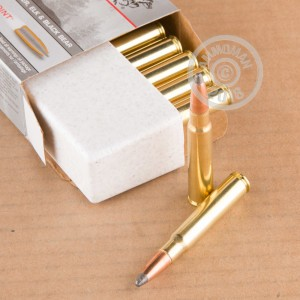 A photograph of 20 rounds of 170 grain 8mm Mauser JS ammo with a Power-Point (PP) bullet for sale.