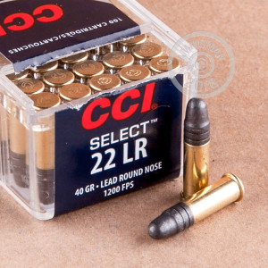 .22 Long Rifle ammo for sale at AmmoMan.com - 100 rounds.