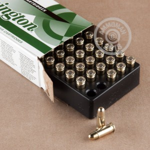Image of Remington .25 ACP pistol ammunition.