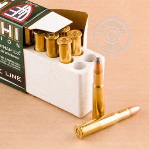 A photo of a box of Fiocchi ammo in 30-30 Winchester.