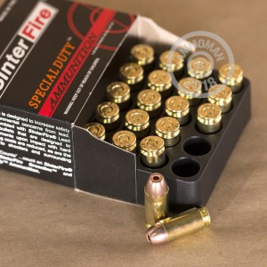 A photo of a box of SinterFire ammo in .40 Smith & Wesson.