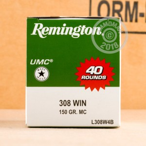 Image of Remington 308 / 7.62x51 rifle ammunition.