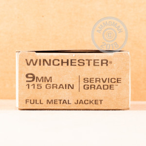 Photo of 9mm Luger FMJ ammo by Winchester for sale at AmmoMan.com.