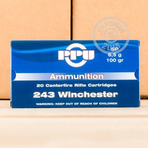 A photo of a box of Prvi Partizan ammo in 243 Winchester.