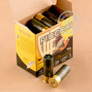 Photograph of Fiocchi 12 Gauge #5 shot for sale at AmmoMan.com