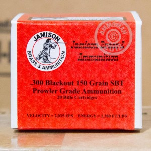 Image of Jamison Ammunition 300 AAC Blackout rifle ammunition.