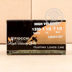 Photograph of Fiocchi 12 Gauge #7.5 shot for sale at AmmoMan.com