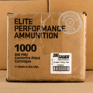 Image of SIG .45 Automatic pistol ammunition.