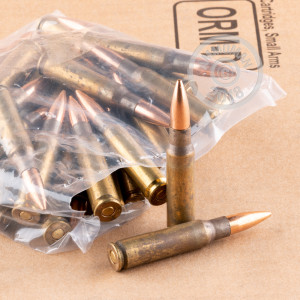 A photograph detailing the 308 / 7.62x51 ammo with Open Tip Match bullets made by Lake City.