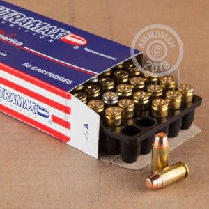 Image of .40 Smith & Wesson ammo by Ultramax that's ideal for training at the range.