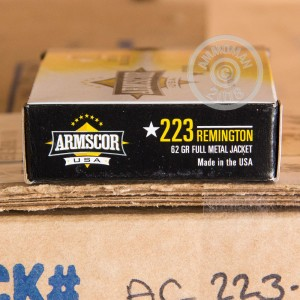 Image of Armscor 223 Remington rifle ammunition.